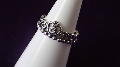 Pandora Princess Tiara Ring. S925 ALE Sterling Silver