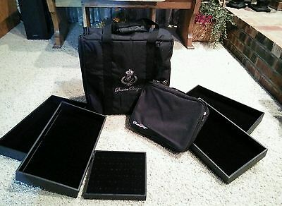 Premier Designs Jewelry case tote storage Bag, zip jewelry holder, Display Trays