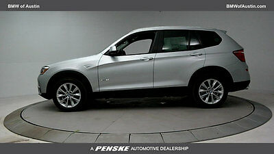 2017 BMW X3 sDrive28i Sports Activity Vehicle sDrive28i Sports Activity Vehicle 4 dr Gasoline 2.0L 4 Cyl GLACIER SILV MT