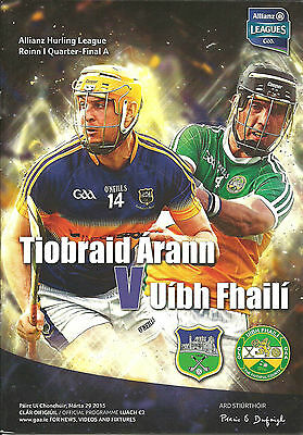 Tipperary V Offaly 2015 National Hurling League