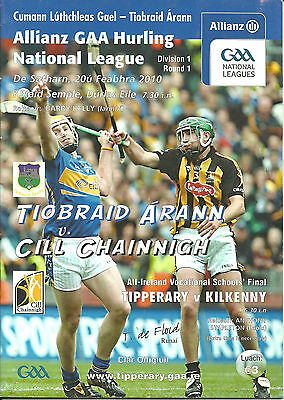 TIPPERARY V KILKENNY 2010 NATIONAL HURLING LEAGUE (Match Cancelled)