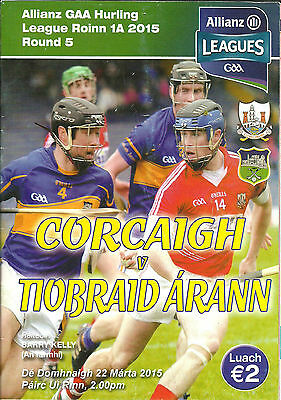 Cork V Tipperary 2015 National Hurling League