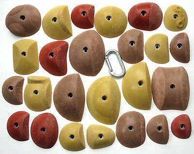 25 synrock bolt-on Climbing Holds Dual Tex Slopers + Free Bolts