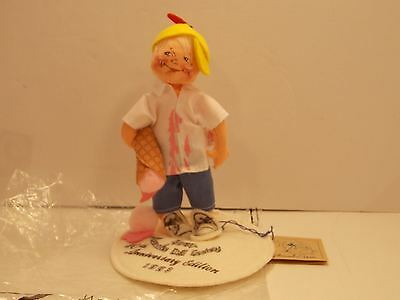 ANNALEE doll 10TH ANNIVERSARY  BOY With ICE CREAM 1993 MADE IN USA