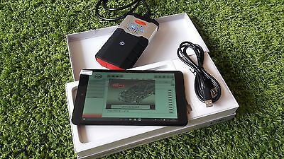 8' Inch Diagnostic Scanner Tool Tablet Laptop Cars Trucks Vans Bluetooth Abs++