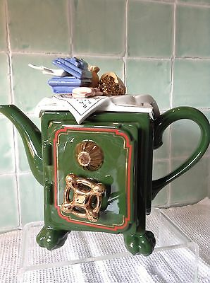 Cardew Collectable Novelty Large Bank Safe Teapot,jewels,gold, Lovely Condition