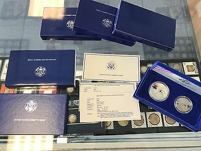 1986 Statue of Liberty 2 Coin Set Silver Dollar Commemorative
