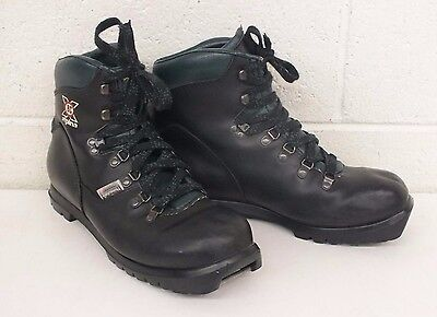 Alpina X BC NNN-BC Thinsulate Insulated Black Leather Cross Country Boots 10/43
