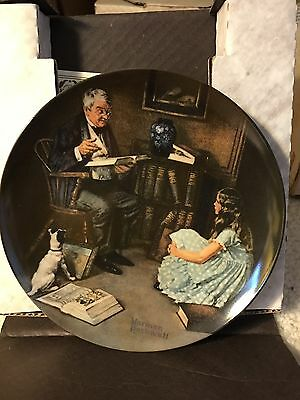"""Norman Rockwell """"The Storyteller"""" Collectors Plate Rockwell Heritage Collection"""
