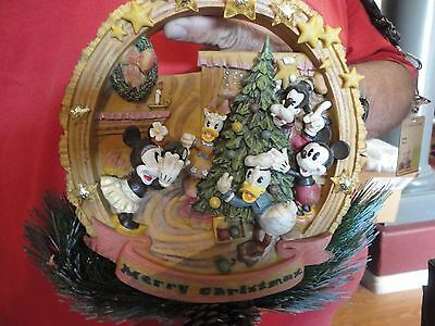 Disney Lighted Woodland Mickey and Friends in Wreath # 39767 New in Box