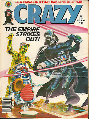 Stan Lee Crazy Magazine Star Wars Spoof The Empire Strikes Back (Out) #66 Sep 80