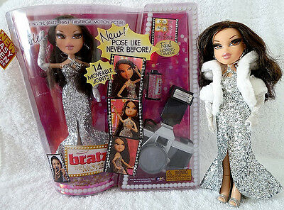 RARE BRATZ THE MOVIE JADE , moveable joints, real working camera