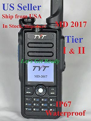 TYT MD-2017 Dual Band DMR/Analog 144&430MHz Radio US Seller