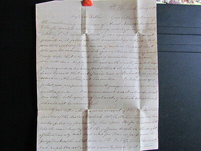1829 John Orfeur Yates stampless letter to father John Yates