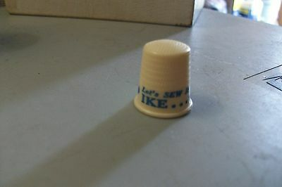 Vintage Political Vote For Ike Vote Republican Thimble Plastic or Bakelite