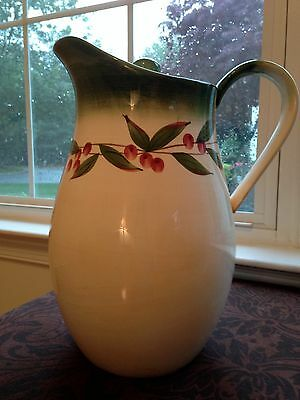 "Large Hand Painted Pitcher ""nonnis""  Great For Sangria"