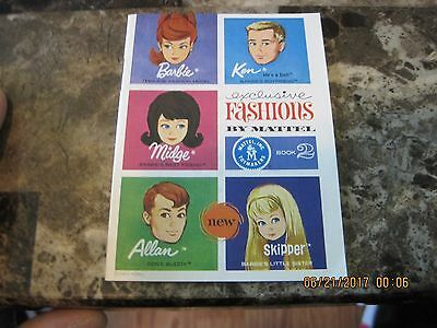 Vintage  Barbie Exclusive Fashions Booklet!