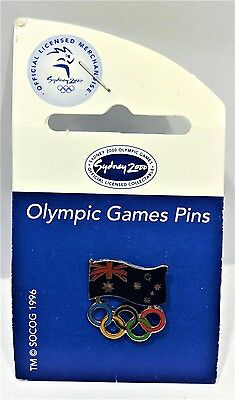 Australian Flag Coloured Rings Sydney Olympic Games 2000 Pin Collect #965