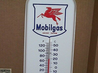 FLYING RED HORSE - Gas Oil Mobil -Is it a ANNIVERSARY THERMOMETER ? -Says 1933 ?