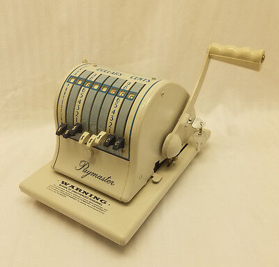 PAYMASTER SERIES X-2000 CHECK WRITER EMBOSSING MACHINE w/ 2 KEYS COVER EXCELLENT