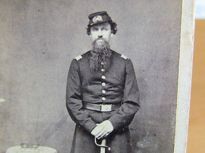 Civil War Engineer officer with sword cdv photograph
