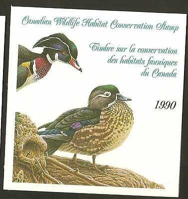 Canada-1990-Wildlife-Habitat-Conservation-Wood-Duck-FWH6-MNH