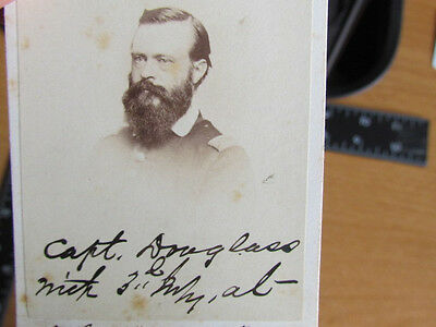 Captain Douglass from 1st Bull Run Battle autographed cdv photograph