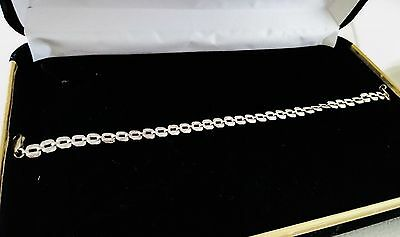 "925 Sterling Silver Curb Chain Bracelet Jewelry Length 7""/ 18cm"