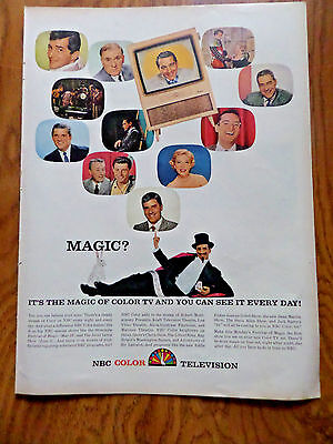 1957 NBC TV Ad Magic? Hollywood Stars Jerry Lewis Dean Martin Como others