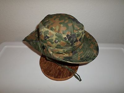 New German Flecktarn Camouflage Boonie Hat Safari Hat Size Large