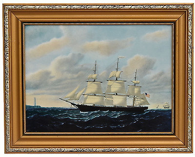 Wedgwood Framed Bone China Plaque Limited edition Clipper Ship Sea Scape