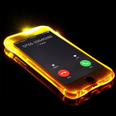 Flash Clear TPU Shockproof Light Up Incoming Call Cover Case For iPhone 7 Plus