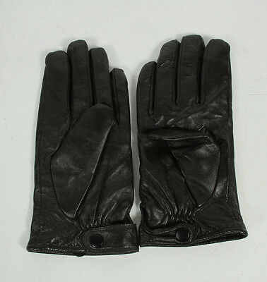 Gilded Age Brown Sheep Leather Wool Blend Lined Button Winter Gloves Size 9