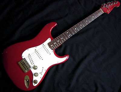 """1980 Fender """"The Strat"""" Stratocaster Candy Apple Red c/w OHSC 37 y/o Collectable"""