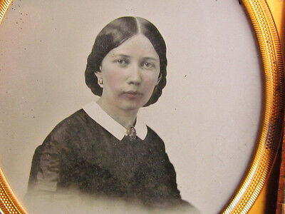 young woman ambrotype photograph