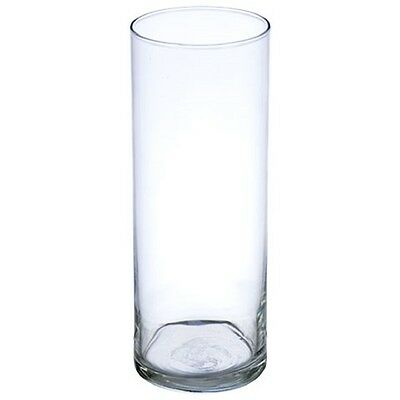 "9"" Cylinder Vase Clear - Glass - 12/Pk - Wedding Centerpieces - 9 Inch Vases"