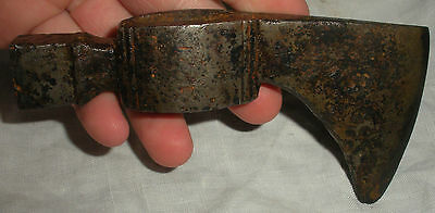 DATED 1771 AMERICAN POLL TOMAHAWK AXE FORGED IRON FOUND IN PENNSYLVANIA vafo