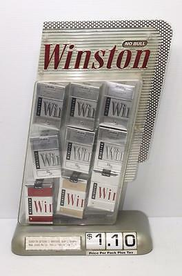 Vintage WINSTON Cigarettes Advertising Store Display NO BULL Adjustable Price