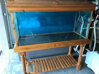 4 FT Fish Tank with Timber Cabinet