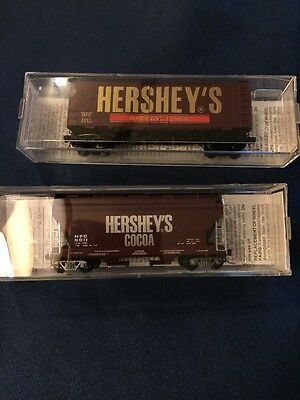 "Micro-Trains N Scale  ""Hershey's Chocolate"" 2-Pc Lot"