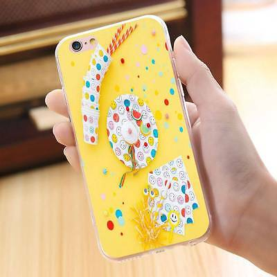 Smile Emoji Cup Pattern Case Shockproof Thin Cover Shell for iPhone 6 6s 7 7Plus