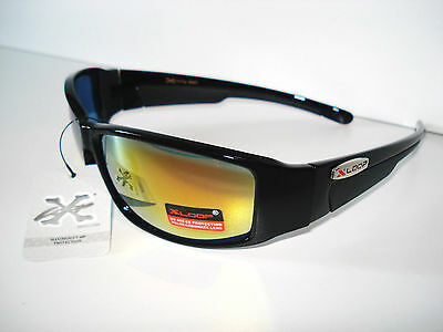Xloop Outdoor Sports Unisex Sunglasses Mens Womens Revo Lens Black Frames Cool