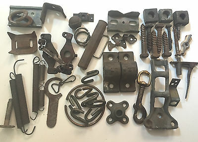 Vintage Iron & Steel: Sculpture Lot, Nuts, Bolts, Springs, Clip, Cleat- Shapes
