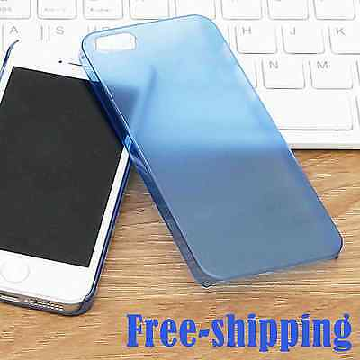 Elegant for iPhone 5 5s SE Slim Shockproof Hard Phone Case Blue Back Cover Shell