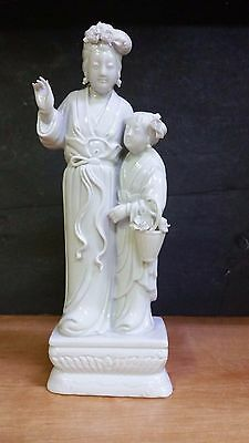 Made In Japan Porcelain Asian Japanese GEISHA WOMAN WITH DAUGHTER Statue Figurin
