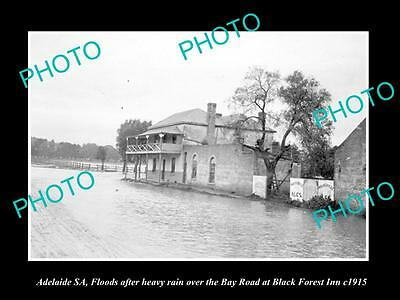 OLD LARGE HISTORIC PHOTO OF ADELAIDE SA, BLACK FOREST HOTEL IN FLOOD c 1915