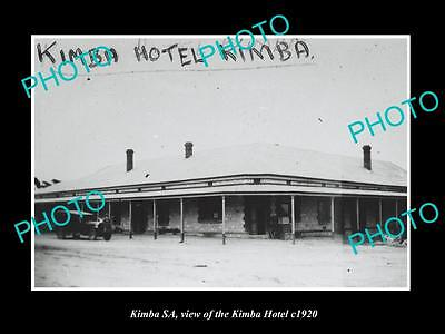 OLD LARGE HISTORIC PHOTO OF KIMBA SOUTH AUSTRALIA, VIEW OF THE HOTEL c1920
