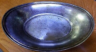 "8-1/2"" Hotel Easton Pa Vintage Hotel Silver Serving Dish International Silver"
