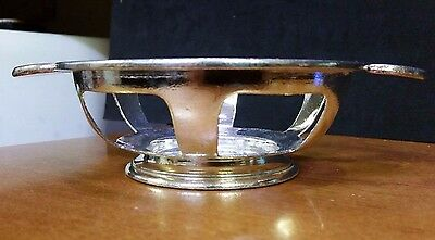 "Gotham Hotel Silver Soldered Slotted Footed Basket With Handles 5"" Wide"
