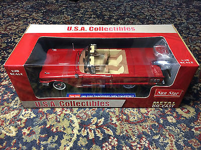 Sun Star 1960 Ford Thunderbird Convertible 1:18 scale diecast NEW RED w/Box